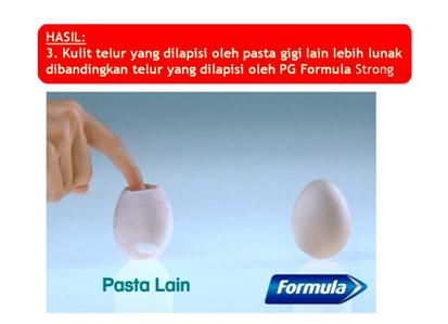 Hasil Eggsperiment